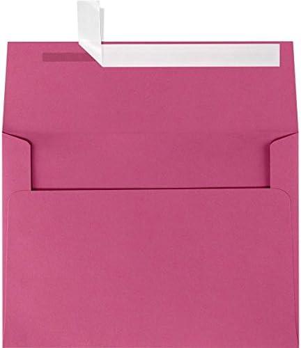 Ladur\u00e9e Watercolor Macaron Tower Pink Stripe Folding Cards Includes Pink Shimmer Envelopes Set of 6