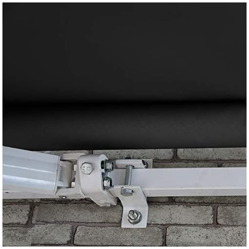 Garden and Outdoor ALEKO AWM20X10BK81 Retractable Motorized Patio Awning 20 x 10 Feet Black patio awnings