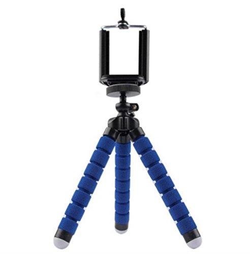 CONTOYSA Tripie Flexible Azul para Celular, Camara o Smartphones Tipo Araña