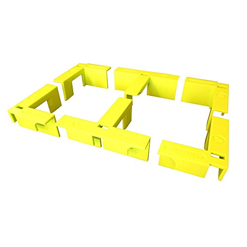 (EZ Woodshop 2 Corner 1/2 Shelf Box & Cabinet Square Pocket Hole Jig assembly Set)