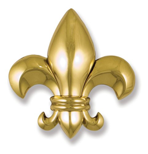 Fleur de Lys Door Knocker - Brass (Premium Size)