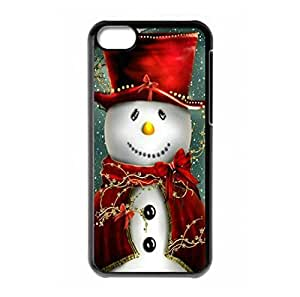 Merry Christmas present Snowman theme hard back shell for iPhone 5c