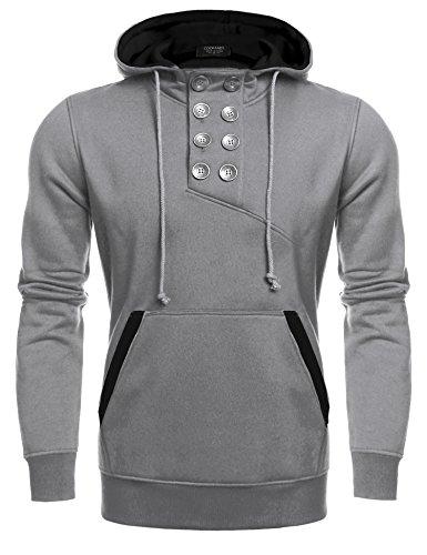 Button Pullover Sweatshirt - 9
