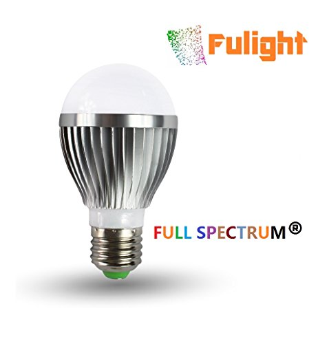 Fulight Full-Spectrum ¤ A19 LED Light Bulbs- 5W (40W Equivalent), Daylight White 6000K, E27 Medium Base - for Reading, Kids Room, Makeup, Food Stores, Studio, Artworks & Medical Lighting