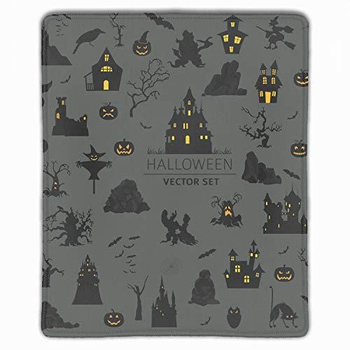 Halloween Happy Mouse Pad Non-Slip Rubber Base Mousepad Mat for Laptop -