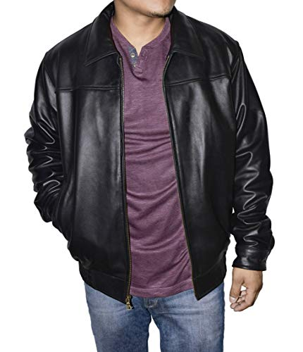 Victory Outfitters Men's Genuine Leather Classic Bomber Jacket