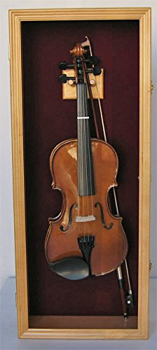 Violin/Mandolin/Cello Display Case Cabinet Hanger Holder by Display Case