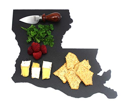 Custom Louisiana Slate Cutting Board, Serving Tray, or Cheese Board- Personalized with Laser Engraving ()
