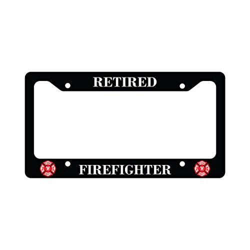 Retired Firefighter Fireman Auto Funny Car License Plate (Firefighter Auto)