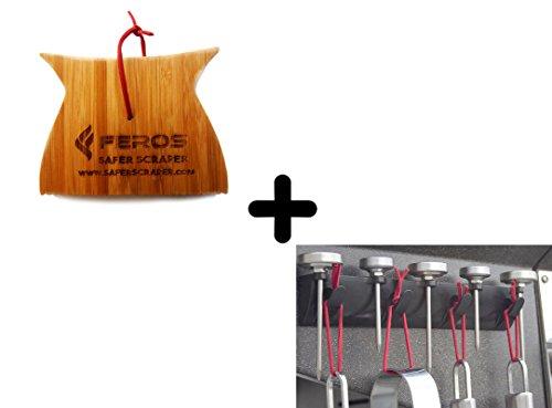 Charcoal Lighter Basket (FEROS KIT - (2 Items!) Mini Safer Scraper + Magnetic Tool Holder)