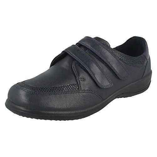 Padders Caitlin Femmes Double Sangle Chaussures Navy Combi
