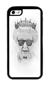 Apple Iphone 5C Case,WENJORS Unique QUEEN Soft Case Protective Shell Cell Phone Cover For Apple Iphone 5C - TPU Black