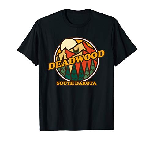 Vintage Deadwood South Dakota Mountain Hiking Souvenir Print T-Shirt