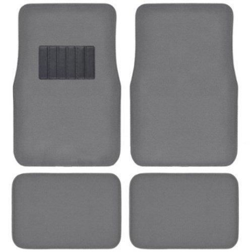 BDK Universal Fit 4-Piece Metro Auto Carpet Mat - (Medium Gray)