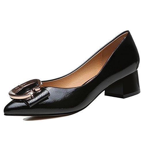 Noir Jqdyl Talons Hauts Chaussures Pointues Femmes Printemps et en été Nouvelle Bouche Peu Profonde avec des Talons et des Talons Hauts Chaussures Confortables