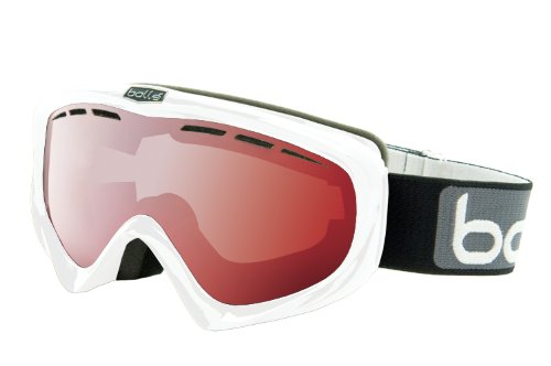 Bolle Y6 OTG Goggles, Shiny White, Vermillion Gun Lens, Outdoor Stuffs