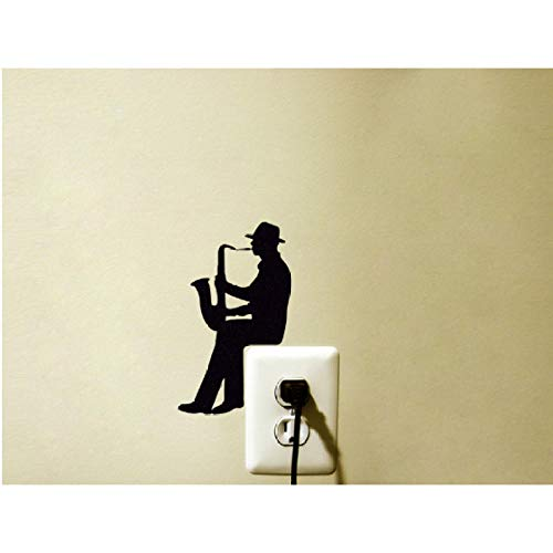 - bingheny 3 pcs A Man is Playing Saxophone Silhouette Vinyl Stickers for Switch Laptops Windows Decals Posters Removable Adhesives Murals 10x17cm