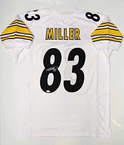 Heath Miller Autographed Jersey - White Pro Style Witnessed - JSA Certified - Autographed NFL Jerseys