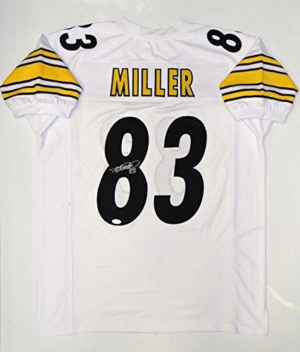 Heath Miller Autographed Jersey - White Pro Style Witnessed - JSA Certified - Autographed NFL Jerseys ()