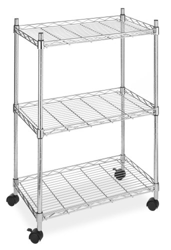 Whitmor Supreme 3 Tier Cart - Rolling Utility Organizer - Chrome - smallkitchenideas.us