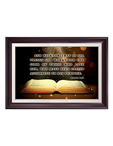DecorArts - Christian motivational quote for Home Decor. Giclee Prints wall art with dark red frame. Finished size: 34'' x 24'' by DECORARTS