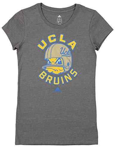 adidas UCLA Bruins NCAA Womens Cap Sleeve Tee Grey - Graphic Option (Grey - Helmet, ()