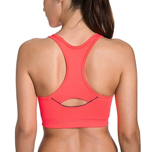 Egyptian Dress Up Ideas (Hihihappy Fashion Women's Mid Impact Smooth Wirefree Racerback Basic Sports Bra Top OrangeX-Small)