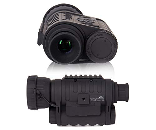 Summit Tools HD Digital Night Vision Monocular up to 1150 FT Range, 1.5-inch Display with Camera&Camcorder Function, 6X Magnification and 50 mm Objective Lens, Takes 5MP Photo & HD Video