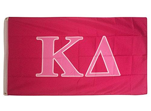 Kappa Delta Dark Pink/Light Pink Letter Sorority Flag Greek Letter Use as a Banner Large 3 x 5 Feet