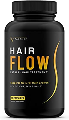 Hair Growth Vitamins Supplement - All Natural Support For Longer & Stronger Hair With Biotin, Vitamin A, Bamboo, Keratin, Vitamin D and more!