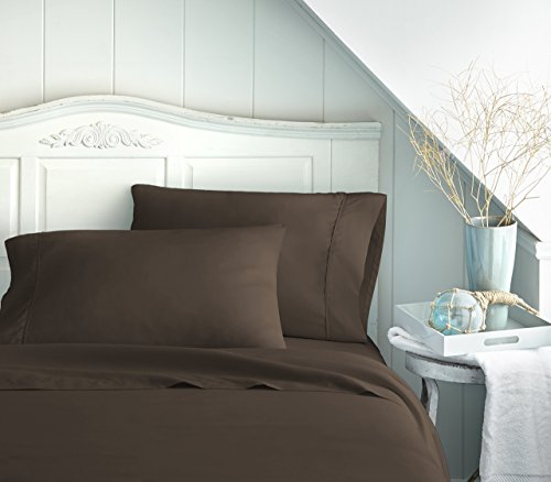 ienjoy Home Hotel Collection Luxury Soft Brushed Bed Sheet Set, Hypoallergenic, Deep Pocket, Queen, Chocolate by ienjoy Home (Image #2)