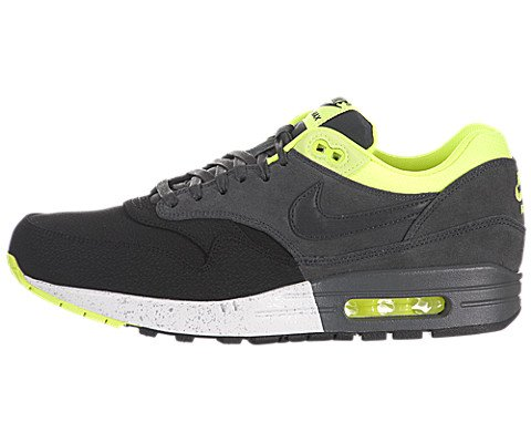 nike air max 1 PRM mens trainers 512033 sneakers shoes (UK 8.5 us 9.5 EU 43, black anthracite anthracite volt 002)