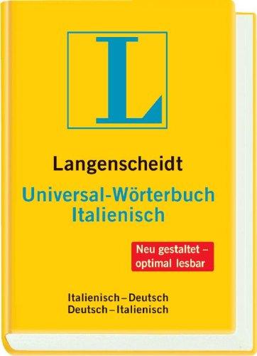 Langenscheidt Universal-Wörterbuch Italienisch: Italienisch-Deutsch/Deutsch-Italienisch