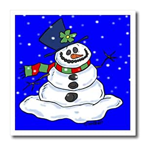 ht_4743_2 Drawing Conclusions Holidays - Holiday Snowman - Iron on Heat Transfers - 6x6 Iron on Heat Transfer for White Material