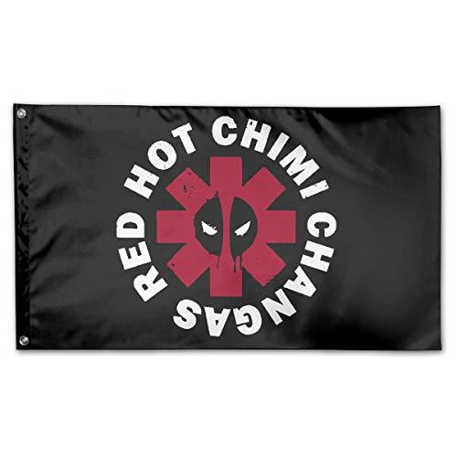 AERYUHPP Red Hot Chimi Garden Flag Garden Decor Decorative Flags Holiday Flag from AERYUHPP