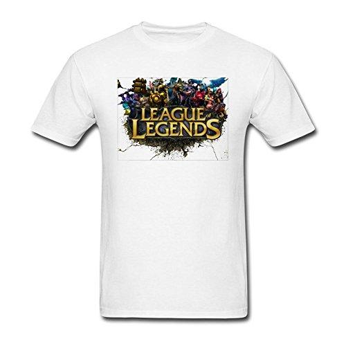 UNNIK Men's The Game League Of Legends T-shirt White S (Manny Legend T-shirt)