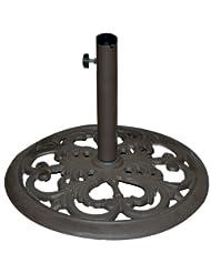 TropiShade 30-Pound Bronze Powder-Coated Cast Iron Umbrella S...