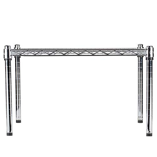 CJ Online Shop Chrome Plated Wire Dunnage Rack Durable Storage Solution High Weight Capacity 600 lb. Adjusted Different Heights 24