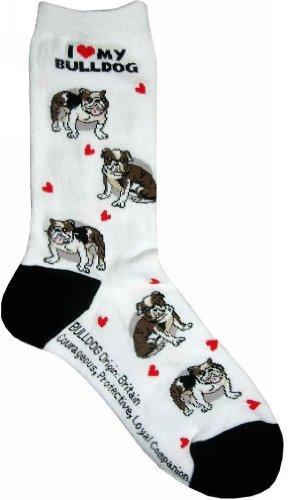 Love Bulldogs (I Love My Bulldog Gift Collection (Women Cotton Socks))