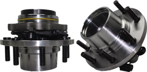 Brand New (Both) Front Wheel Hub and Bearing Assembly for 1999-04 F-250/350/450 4x4 8 Lug DRW W/ABS,FROM 3/22/99 Coarse Threads