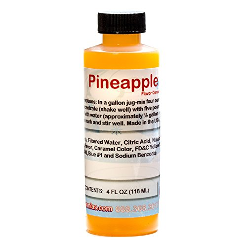 Pineapple Shaved Ice and Snow Cone Flavor Concentrate 4 Fl Ounce (Concentrate Snow Cone)