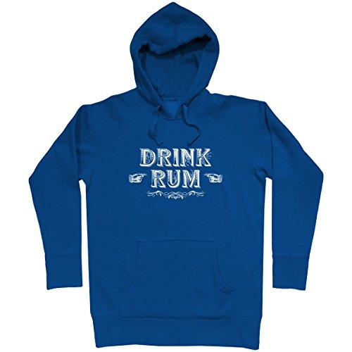 (Smash Transit Men's Drink Rum Hoodie - Royal Blue, Large)