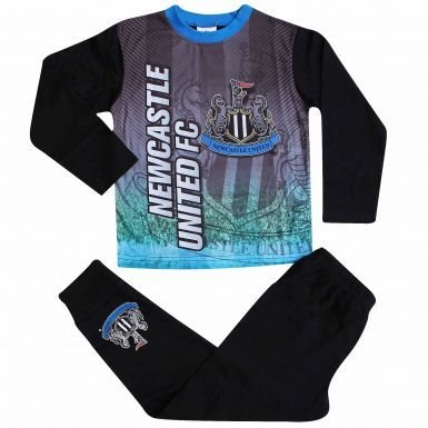 Kids Newcastle United Crestパジャマでフルカラー印刷 B077G4D855Kids Size 7-8 Years