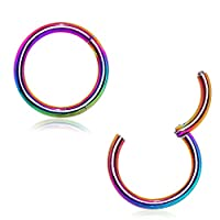 Hinged Seamless Septum Clicker Ring 316L Surgical Steel (Sold Individually)
