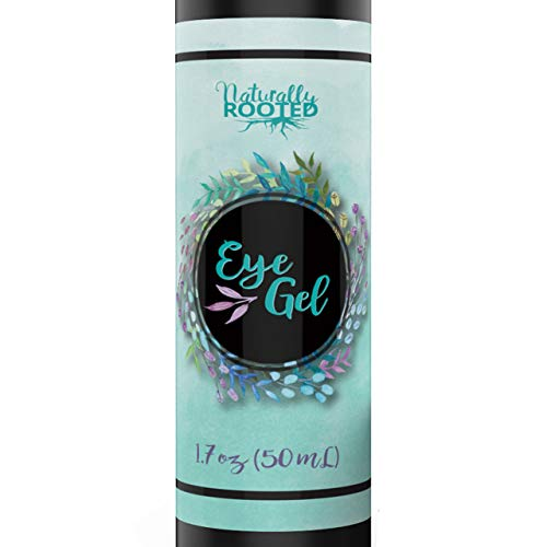 Eye Gel for Dark Circles, Puffiness, Bags, Fine Lines and Wrinkles. 100% Natural, 72% Organic Anit-Aging Treatment with Hyaluronic Acid, Vitamin E, Aloe, MSM, Cucumber, and Peptides. 1.7 oz (Best Way To Remove Eye Bags Naturally)