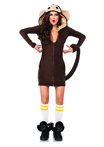 Female Safari Costumes (Leg Avenue Women's Cozy Monkey Costume, Brown, Large)