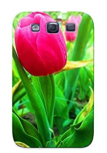 40258e573 Special Design Back Pink Tulips Phone Case Cover For Galaxy S3