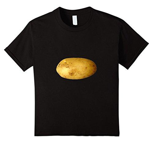Kids Baking Potato T-Shirt Starchy Vegetable Side Dish 6 Black