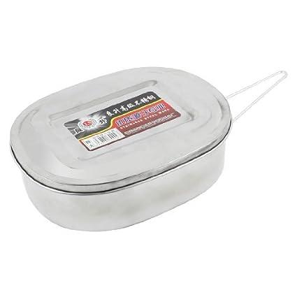 Amazon.com: Acero inoxidable cena de la comida Caja de 17, 5 ...