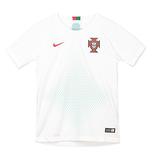 NIKE Portugal 2018 Youth Away Jersey- White YS (Portugal Replica Jersey)